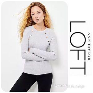 NWT LOFT Button Trim Sweater Sz XL $59.50!
